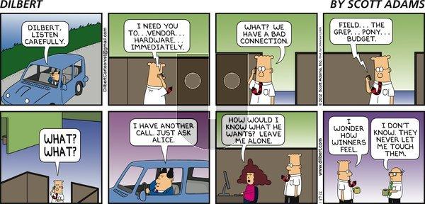 Dilbert - Sunday January 29, 2012 Comic Strip