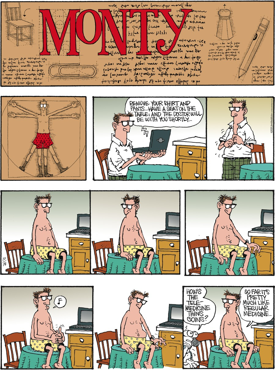 Monty Comic Strip for October 18, 2020