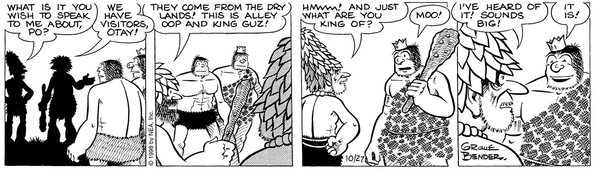 Alley Oop for Oct 27, 1998 Comic Strip
