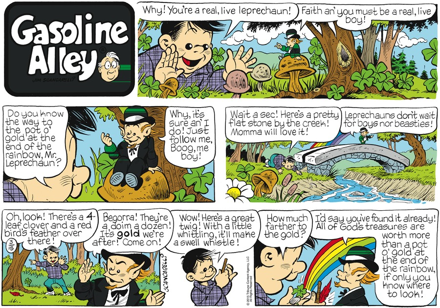 Gasoline Alley Comic Strip for March 15, 2015