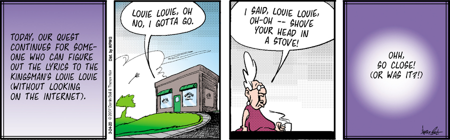 Rudy Park Comic Strip for March 24, 2020