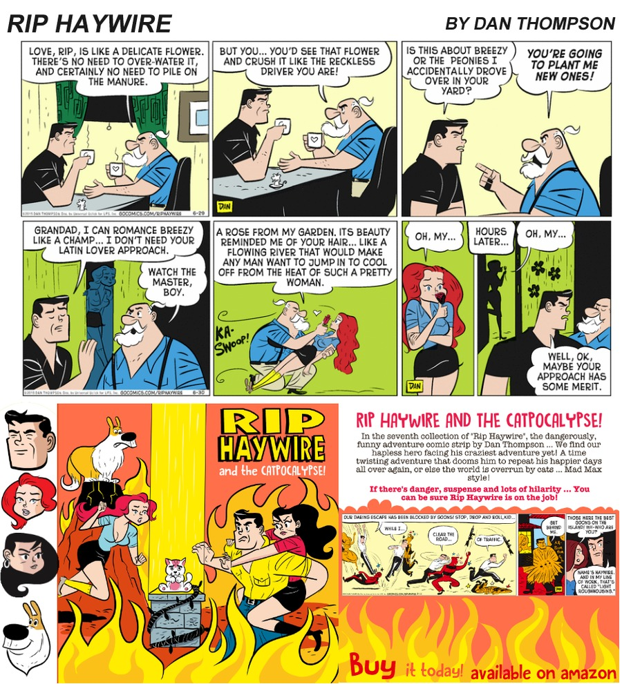 Rip Haywire Comic Strip for September 24, 2017