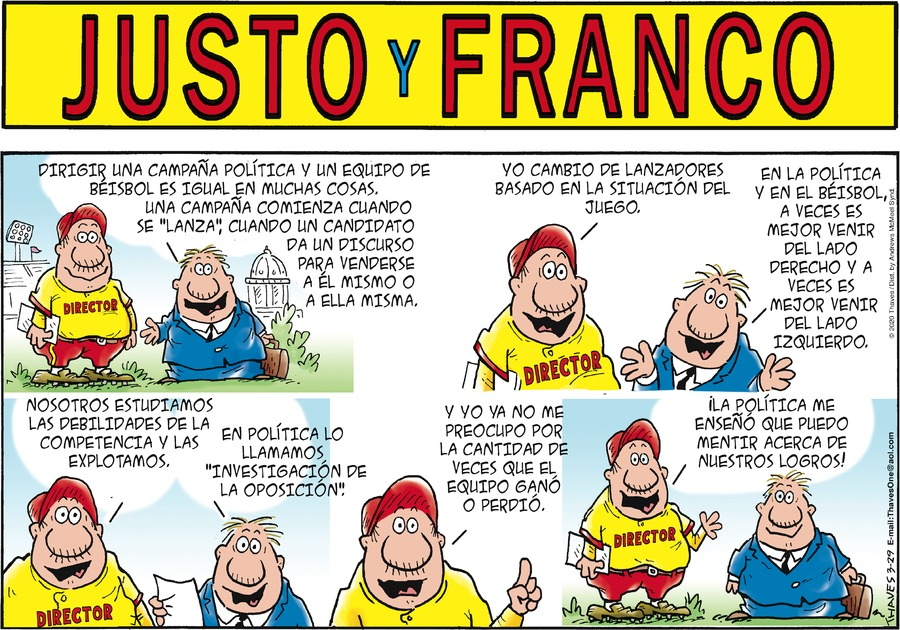 Justo y Franco Comic Strip for March 29, 2020