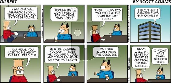 Dilbert on Sunday November 15, 2020 Comic Strip