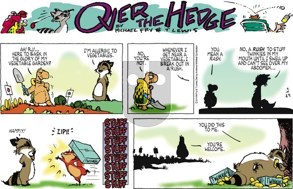 Over the Hedge on Sunday April 29, 2018 Comic Strip