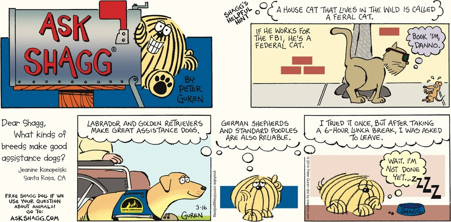 Ask Shagg for Mar 16, 2014 Comic Strip