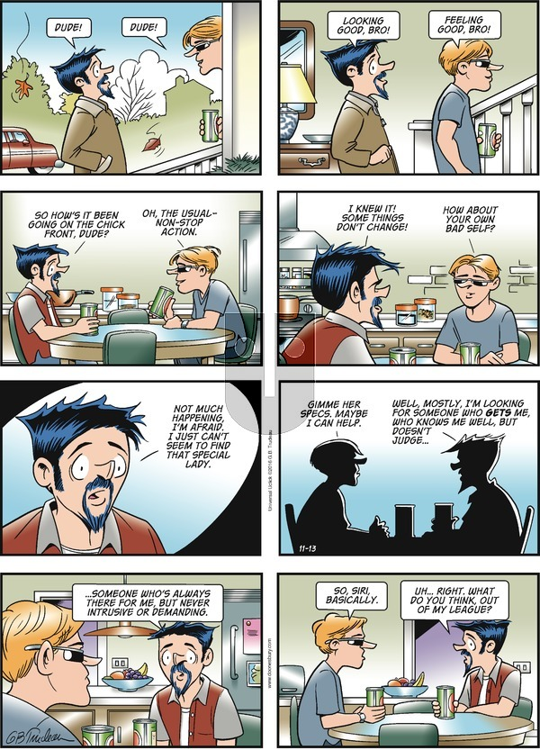 Doonesbury on Sunday November 13, 2016 Comic Strip