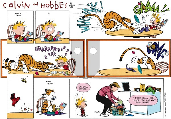 Calvin and Hobbes - Sunday March 12, 1995 Comic Strip