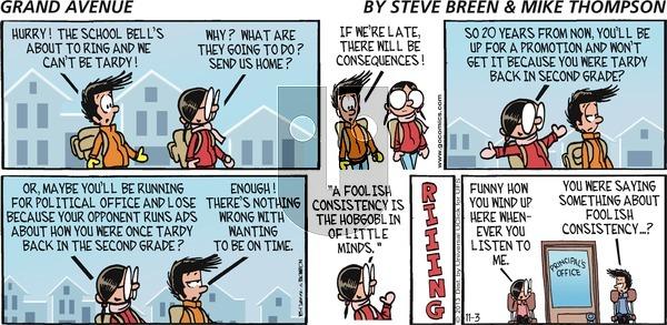 Grand Avenue on Sunday November 3, 2013 Comic Strip
