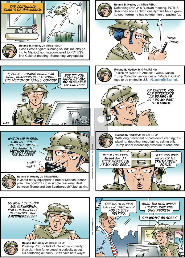 Doonesbury on Sunday September 3, 2017 Comic Strip