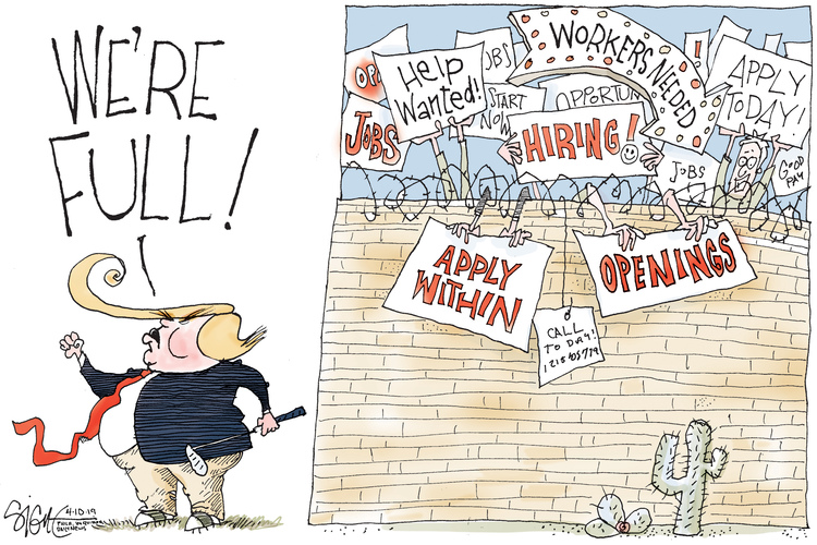 Signe Wilkinson by Signe Wilkinson for April 10, 2019