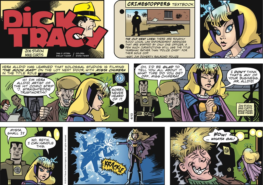 Dick Tracy for Apr 13, 2014 Comic Strip