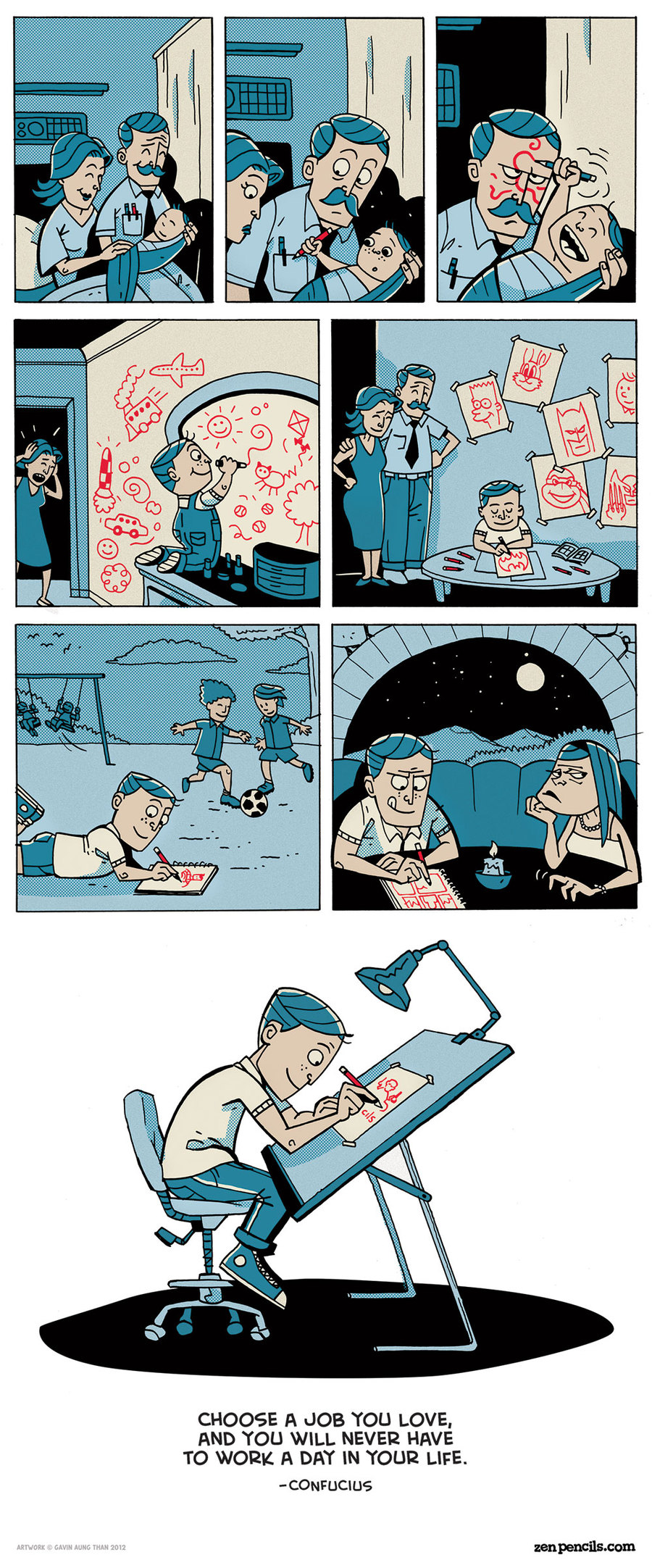 Zen Pencils for Jul 29, 2013 Comic Strip