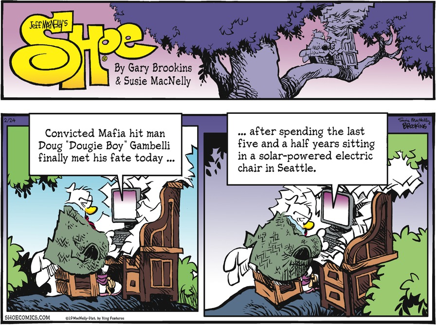 Shoe Comic Strip for February 24, 2019