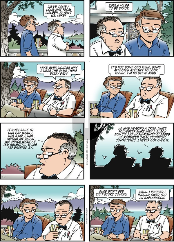 Doonesbury on Sunday July 3, 2016 Comic Strip