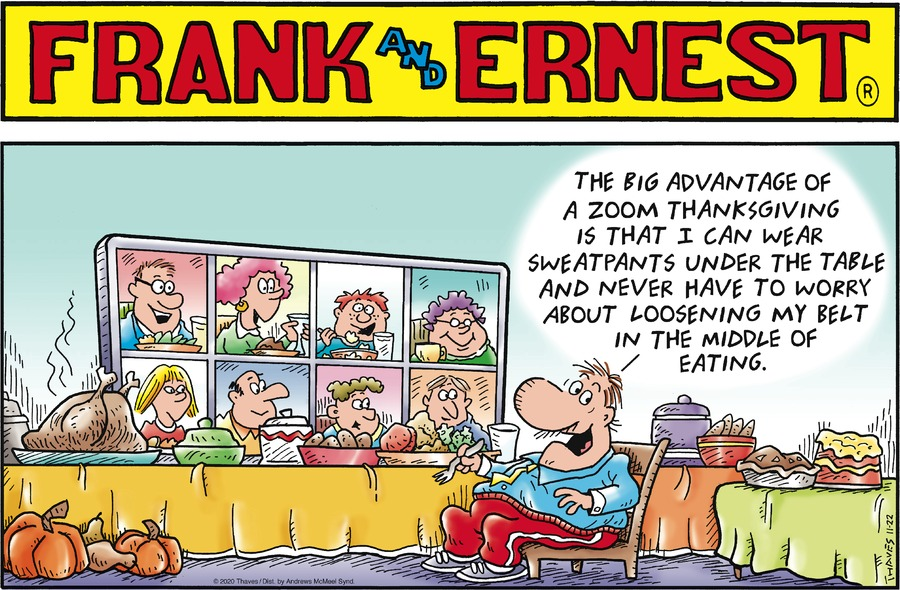 Frank and Ernest Comic Strip for November 22, 2020