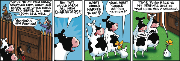 2 Cows and a Chicken for Feb 13, 2018 Comic Strip