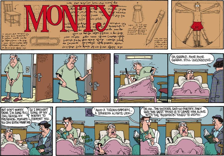 Monty for Jan 22, 2012 Comic Strip