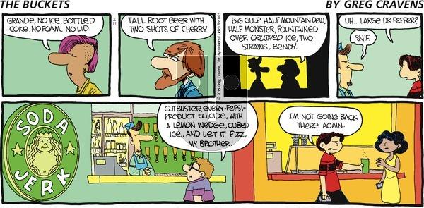The Buckets on Sunday July 19, 2015 Comic Strip