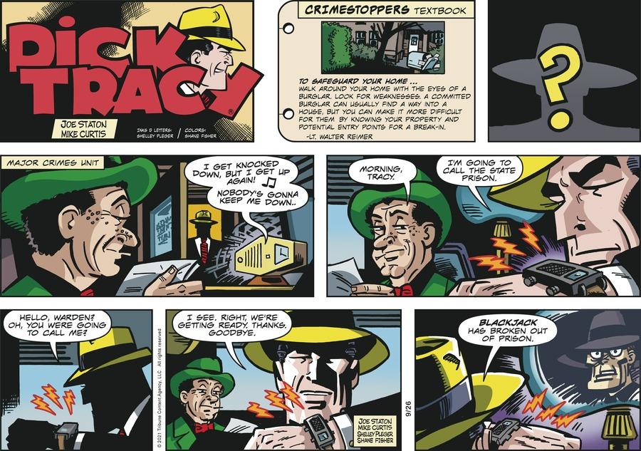 Dick Tracy Comic Strip for September 26, 2021