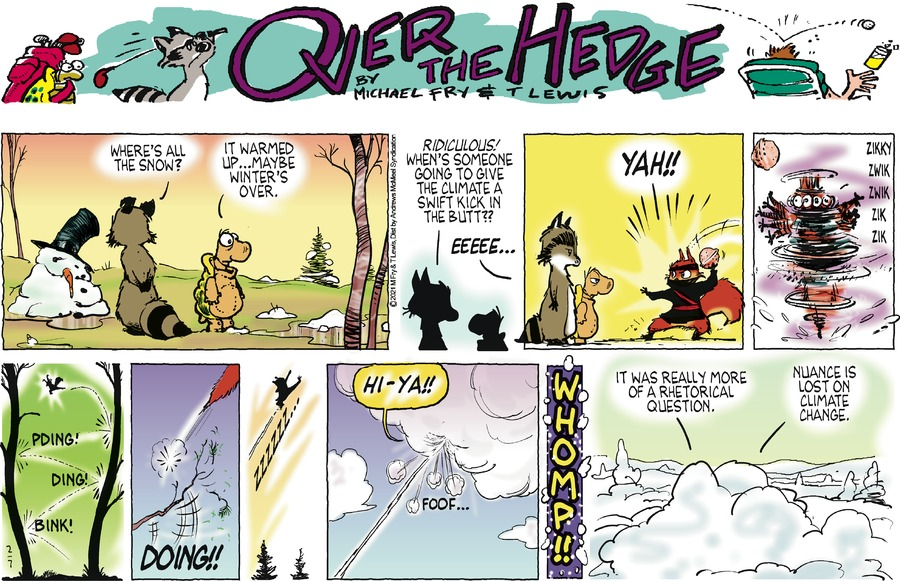 Over the Hedge by T Lewis and Michael Fry on Sun, 07 Feb 2021