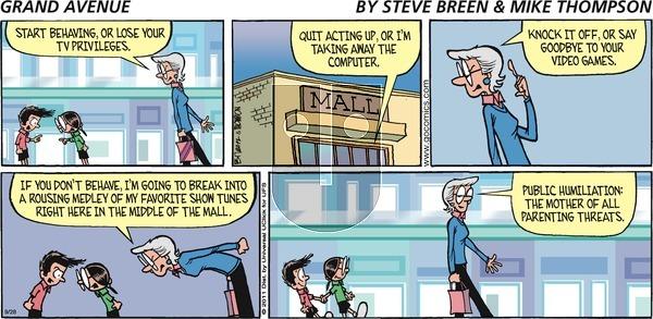 Grand Avenue on Sunday September 28, 2014 Comic Strip