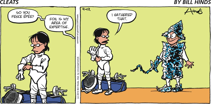 Cleats by Bill Hinds for September 15, 2019