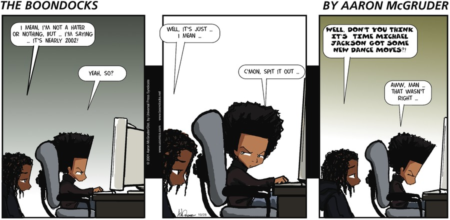 The Boondocks Comic Strip for October 28, 2001