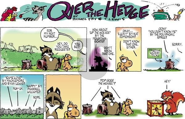 Over the Hedge on Sunday April 27, 2014 Comic Strip