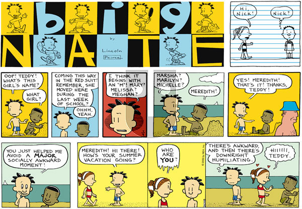 Big Nate on Sunday July 9, 2006 Comic Strip