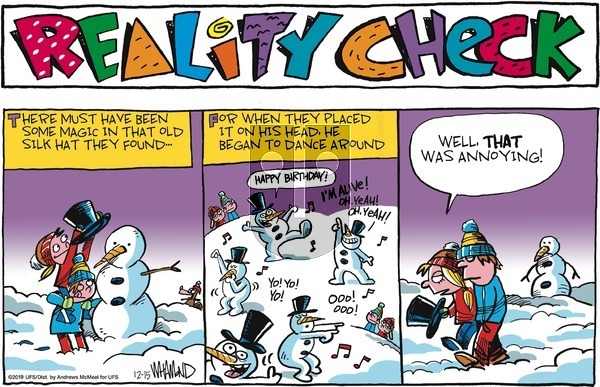 Reality Check on Sunday December 15, 2019 Comic Strip