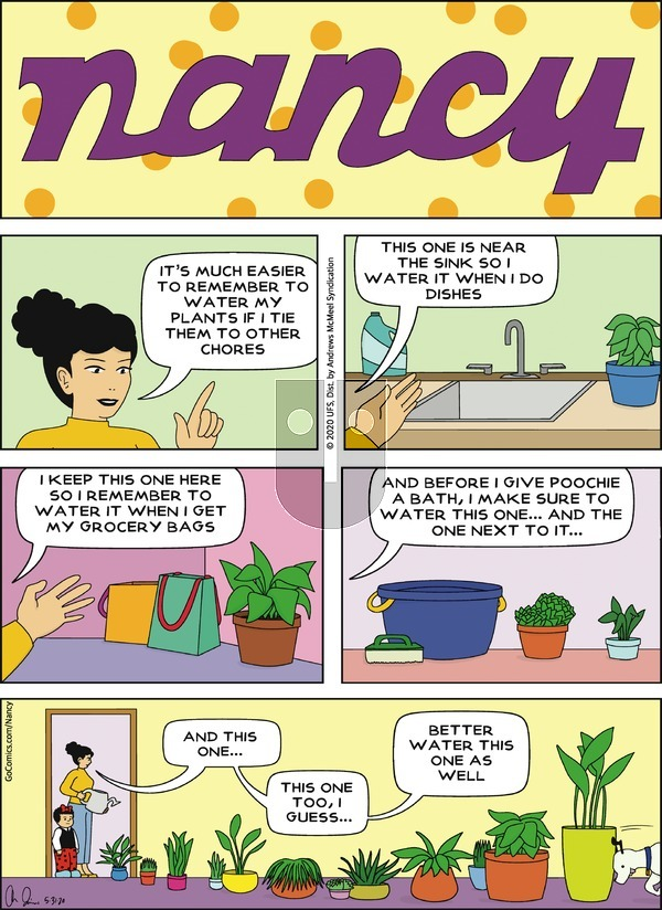 Nancy - Sunday May 31, 2020 Comic Strip