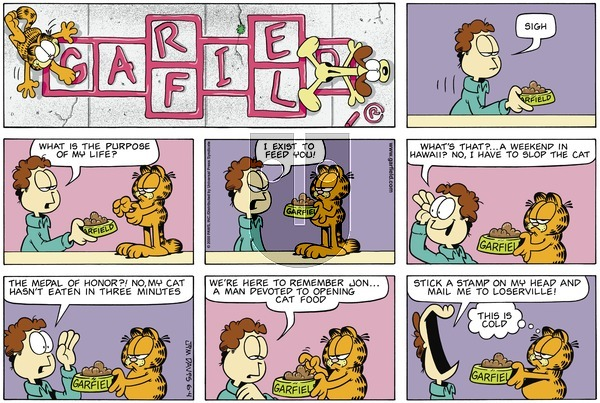 Garfield on Sunday June 4, 2000 Comic Strip