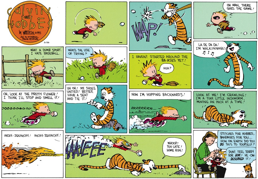 Calvin and Hobbes for May 26, 2013 Comic Strip