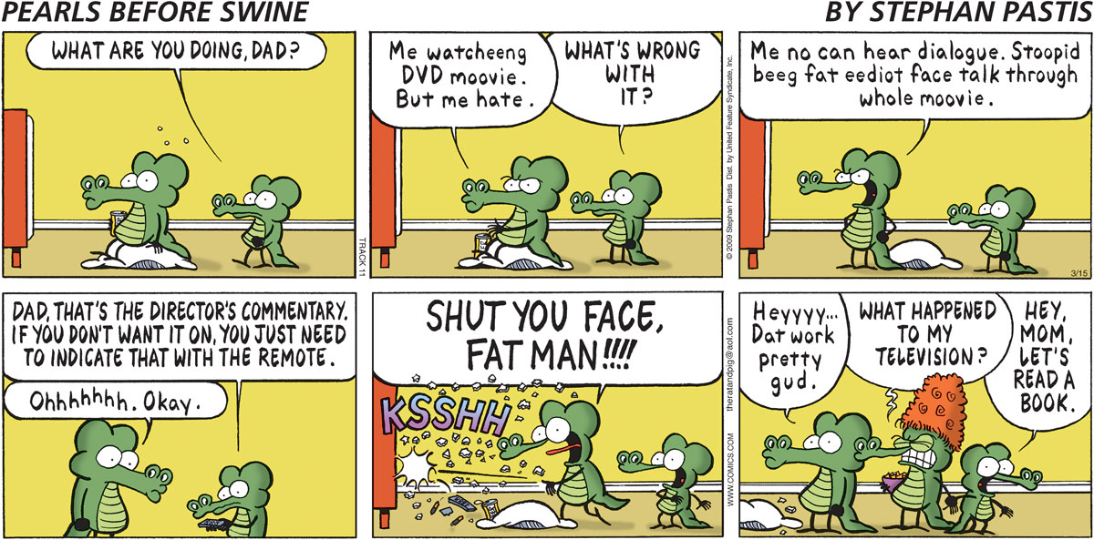 Pearls Before Swine Comic Strip for March 15, 2009
