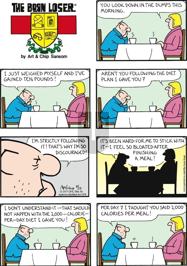 The Born Loser on Sunday August 13, 2017 Comic Strip