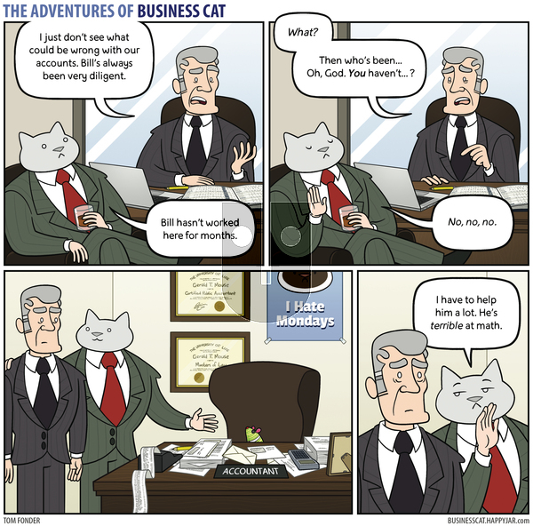 The Adventures of Business Cat on Thursday April 15, 2021 Comic Strip