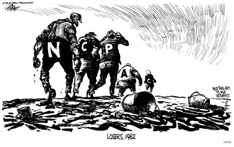 Pat Oliphant Comic Strip for November 14, 1982