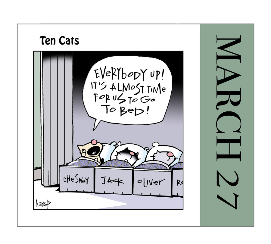 Ten Cats Comic Strip for March 27, 2021