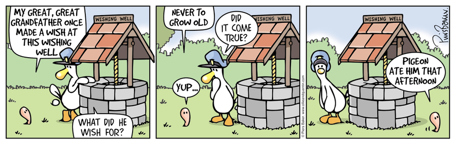 Quentin: My great, great grandfather one made a wish at this wishing well. 