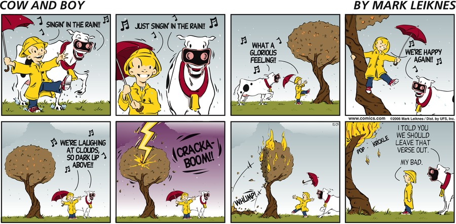 Cow and Boy Classics Comic Strip for October 29, 2006