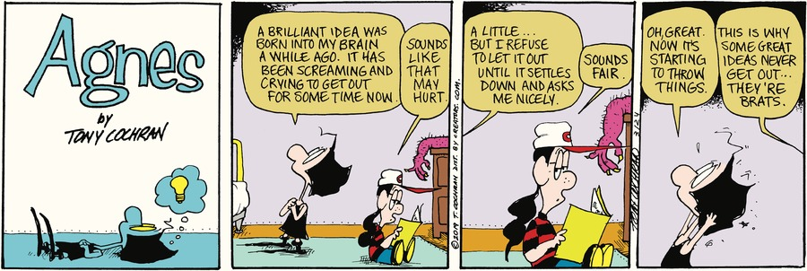 Agnes by Tony Cochran for March 24, 2019