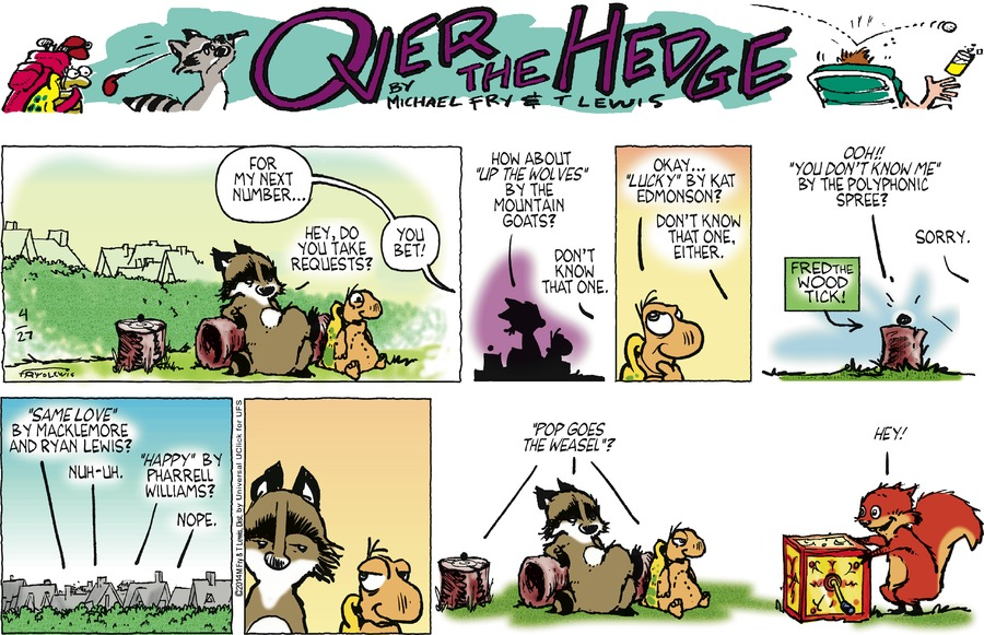 Over the Hedge Comic Strip for April 27, 2014