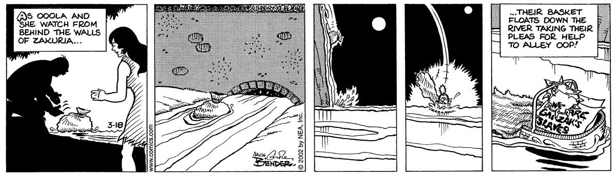 Alley Oop for Mar 18, 2002 Comic Strip