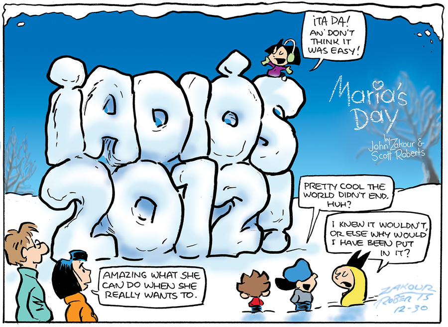 Maria's Day for Dec 30, 2012 Comic Strip