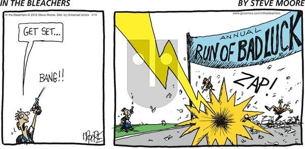 In the Bleachers on Sunday April 10, 2016 Comic Strip