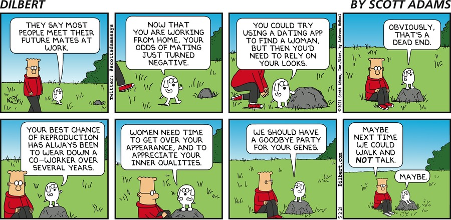 Remote Workers Do Not Mate - Dilbert by Scott Adams