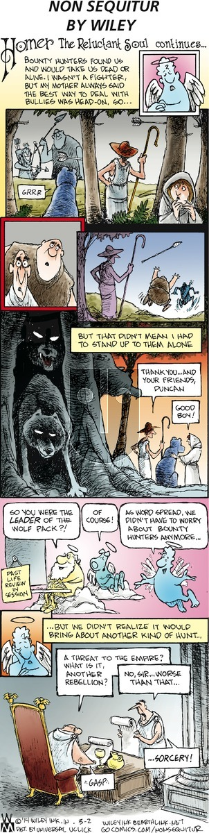 Non Sequitur on Sunday March 2, 2014 Comic Strip