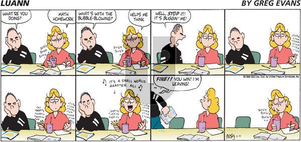 Luann - Sunday January 11, 1998 Comic Strip