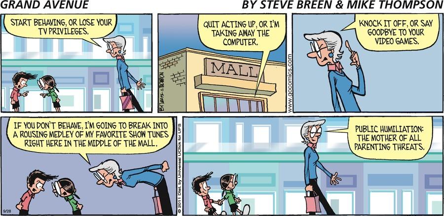 Grand Avenue Comic Strip for September 28, 2014